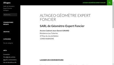 Site internet de Altageo- Cabinet Isabelle Lieutaud
