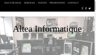 Site internet de Altea Informatique