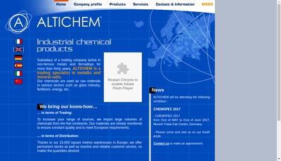 Site internet de Altichem