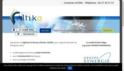 Site internet de Altika