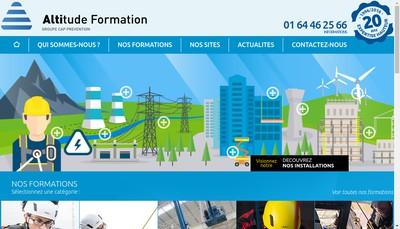 Site internet de Altitude Formation