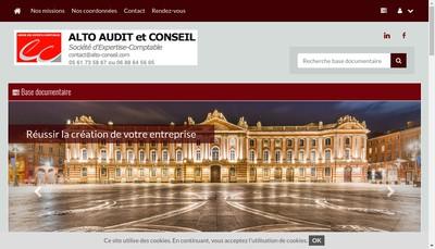 Site internet de Alto Audit et Conseil