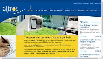 Site internet de Altros Ingenierie