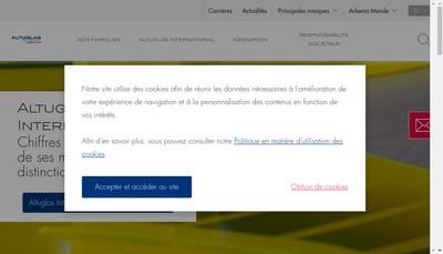 Site internet de Altuglas International SAS