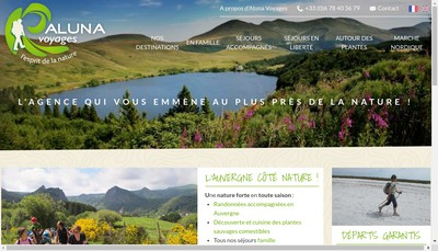 Site internet de Aluna Voyages