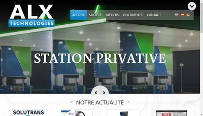 Site internet de ALX Technologies
