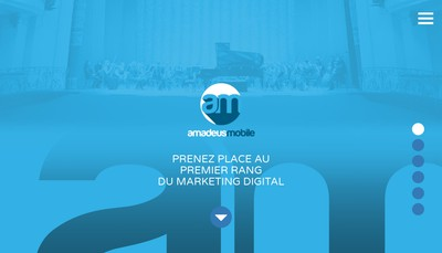 Site internet de Amadeus Mobile