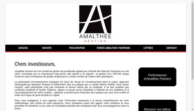 Site internet de Amalthee Gestion