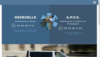 Site internet de SARL Ambulances Desruelles