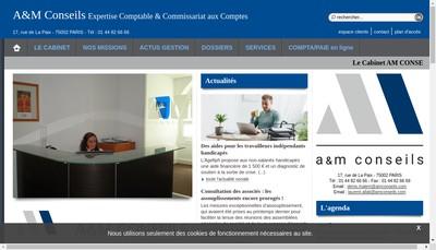 Site internet de A et M Conseils