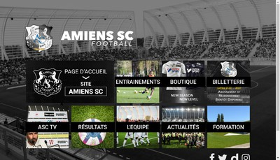 Site internet de Amiens Sporting Club Football