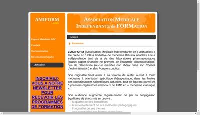 Site internet de Association Amiform