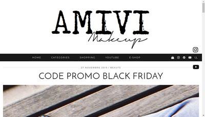 Site internet de Amivi Make Up