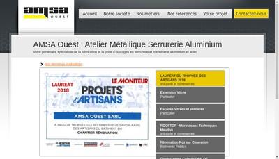 Site internet de Amsa Ouest
