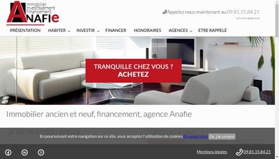 Site internet de Anafie