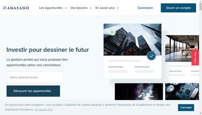 Site internet de Anaxago
