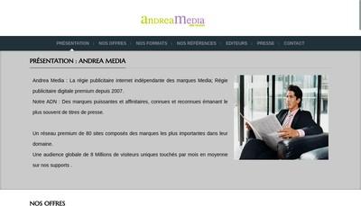 Site internet de Andrea Media