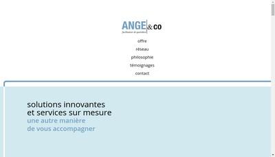 Site internet de Ange&Co