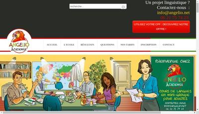 Site internet de Angelio Academia