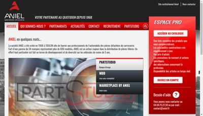 Site internet de SA Etablissements Aniel