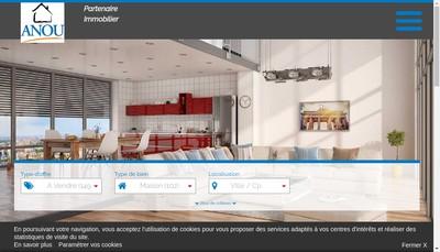 Site internet de Anou Immobilier