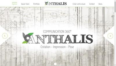 Site internet de Anthalis Communication 360