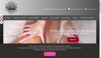 Site internet de Antinea SARL