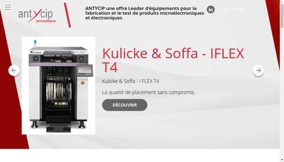 Site internet de Antycip Technologies