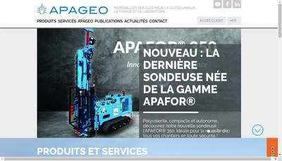 Site internet de SN Apageo