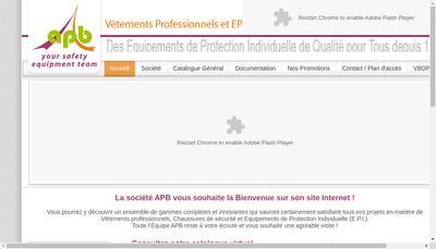 Site internet de Apb Safety