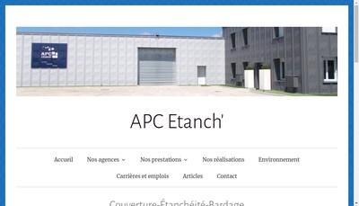 Site internet de Apc Etanch Grand Lyon