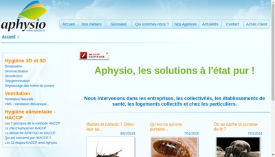 Site internet de Aphysio