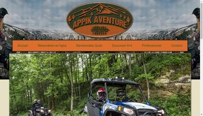 Site internet de Appik Aventure Passion Pilotage 4X4