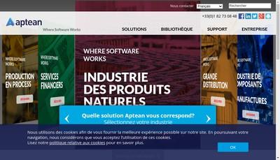 Site internet de Aptean France
