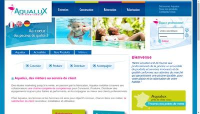 Site internet de Aqualux