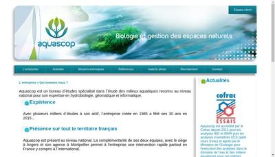 Site internet de Aquascop Biologie