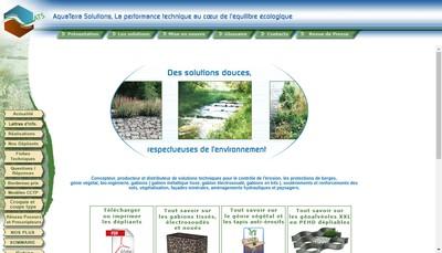 Site internet de Aquaterra Solutions