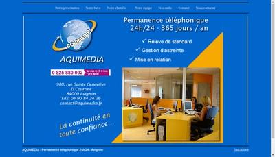 Site internet de Aquimedia SA