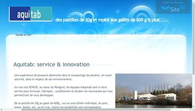 Site internet de Aquitab