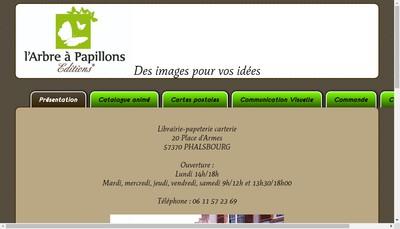 Site internet de L'Arbre a Papillons Editions
