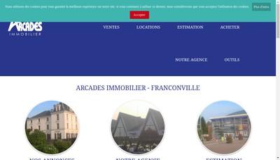 Site internet de Arcades Immobilier