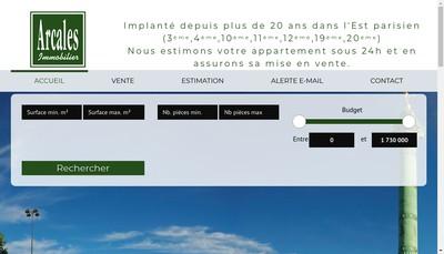 Site internet de Arcales Immobilier
