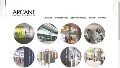 Site internet de Arcane Concept
