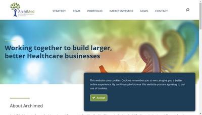 Site internet de Archimed SAS