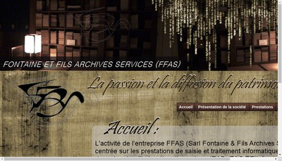 Site internet de Fontaine et Fils Archives Services