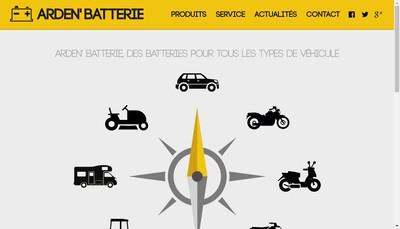 Site internet de EURL Arden'Batterie
