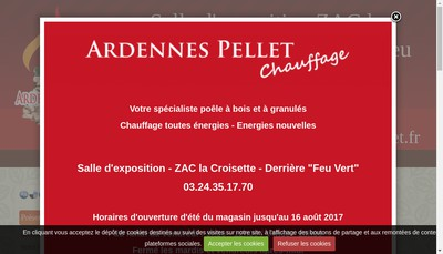 Site internet de Ardennes Pellet Chauffage
