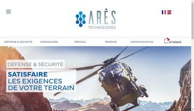 Site internet de Ares Technologies
