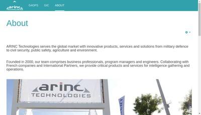 Site internet de Arinc