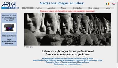 Site internet de Arka Laboratoire